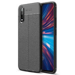 Flexi Slim Litchi Texture Case for Vivo S1 - Black Stitch